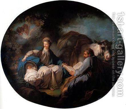 Rest on the Flight into Egypt by Jean-Honore Fragonard - Reproduction Oil Painting