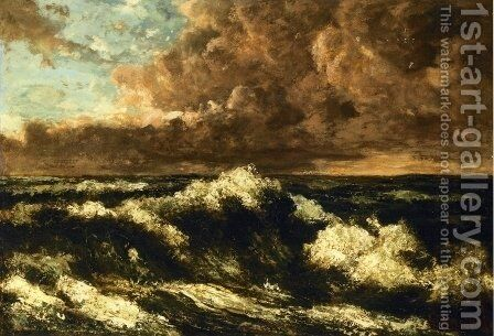 Seascape 3 by Gustave Courbet - Reproduction Oil Painting