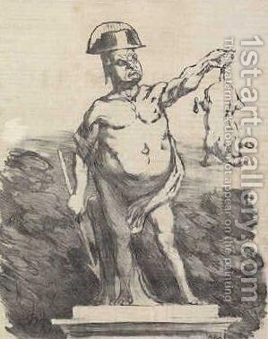 Project to raise a statue to Odilon Nimrod by Honoré Daumier - Reproduction Oil Painting