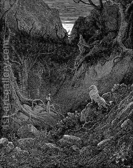 The Lion by Gustave Dore - Reproduction Oil Painting