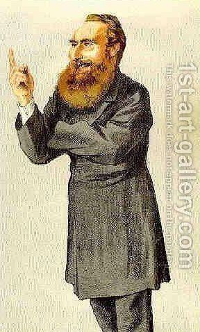 Caricature of Anthony John Mundella by James Jacques Joseph Tissot - Reproduction Oil Painting