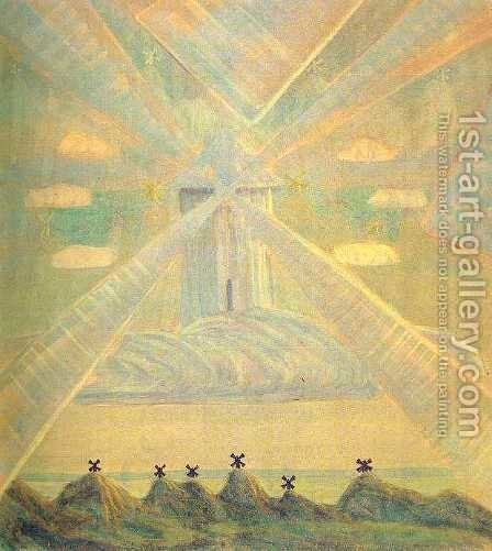 Andante (Sonata of the Spring) by Mikolajus Ciurlionis - Reproduction Oil Painting