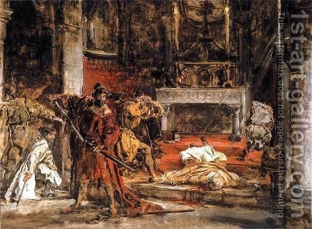 Murder of St. Stanislaus by Jan Matejko - Reproduction Oil Painting