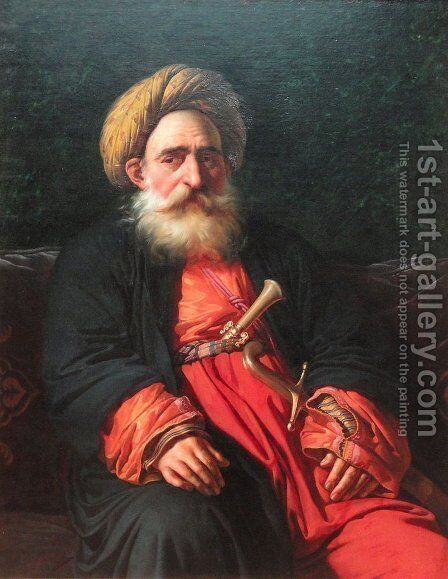 Portrait of the Katchef Dahouth, Christian Mameluke by Anne-Louis Girodet de Roucy-Triosson - Reproduction Oil Painting