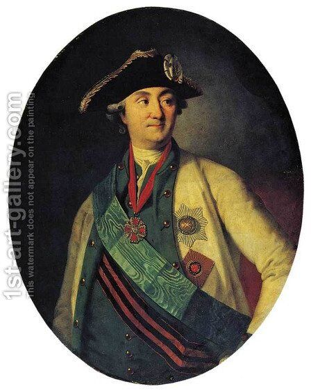 Portrait of Count Orlov-Chesmensky by Carl-Ludwig Christinek - Reproduction Oil Painting