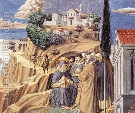 Visit to the Monks of Mount Pisano by Benozzo di Lese di Sandro Gozzoli - Reproduction Oil Painting