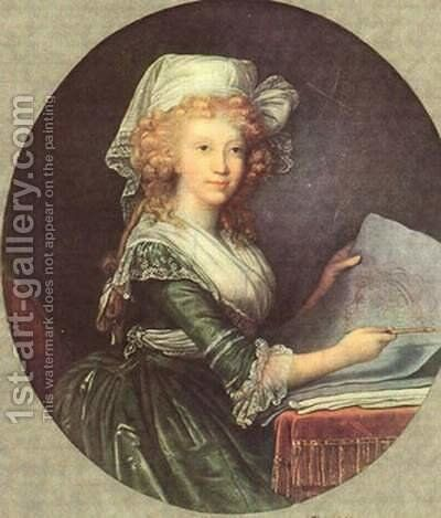 Maria Luisa of Spain, wife of Emperor Leopold II by Elisabeth Vigee-Lebrun - Reproduction Oil Painting