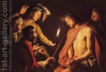 Christ Crowned with Thorns by Matthias Stomer - Reproduction Oil Painting