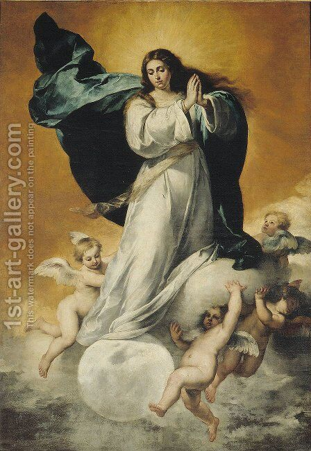 The Immaculate Conception 4 by Bartolome Esteban Murillo - Reproduction Oil Painting
