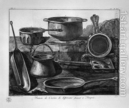 Kitchen utensils by Giovanni Battista Piranesi - Reproduction Oil Painting