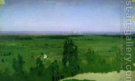 View on Moscow from Sparrow Hills by Arkhip Ivanovich Kuindzhi - Reproduction Oil Painting