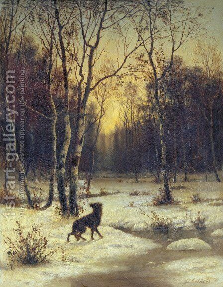 Winter Landscape by Efim Efimovich Volkov - Reproduction Oil Painting