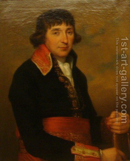 Augustin de Lespinasse by Angelica Kauffmann - Reproduction Oil Painting