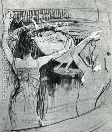 The Ballet Papa Chrysanth me by Toulouse-Lautrec - Reproduction Oil Painting