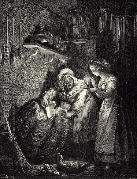 Cinderella 2 by Gustave Dore - Reproduction Oil Painting