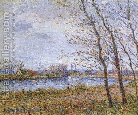 Port Pinche at the Turn of the Seine by Gustave Loiseau - Reproduction Oil Painting