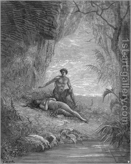 Adam and Eve by Gustave Dore - Reproduction Oil Painting