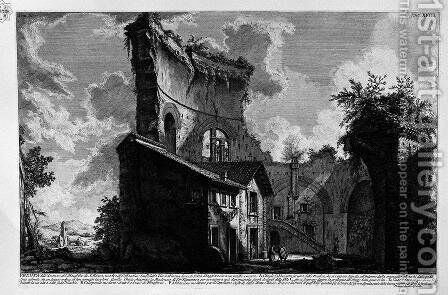 The Roman antiquities, t. 3, Plate XVIII. A view of a mausoleum. by Giovanni Battista Piranesi - Reproduction Oil Painting