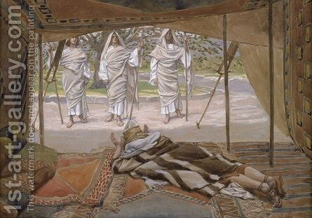 Abraham and the Three Angels by James Jacques Joseph Tissot - Reproduction Oil Painting