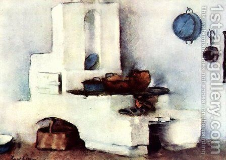Kitchen by Stefan Luchian - Reproduction Oil Painting