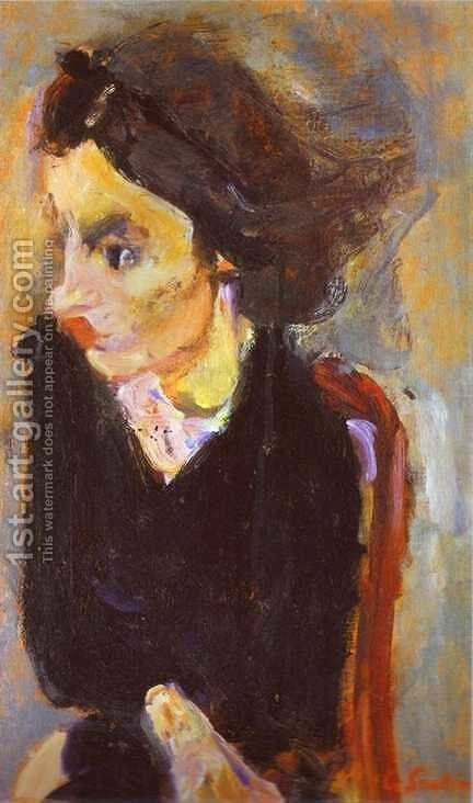 Woman in Profile (Portrait of Madame Tennent) by Chaim Soutine - Reproduction Oil Painting
