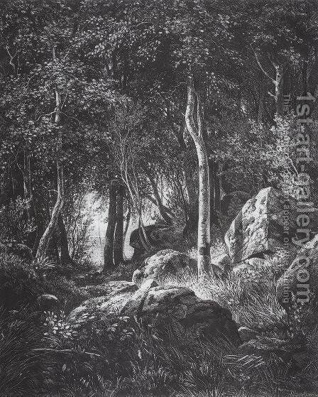 At the edge of a birch grove. Valaam 2 by Ivan Shishkin - Reproduction Oil Painting