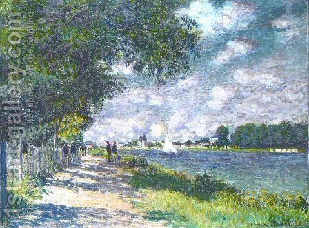 The Seine at Argenteuil 6 by Claude Oscar Monet - Reproduction Oil Painting