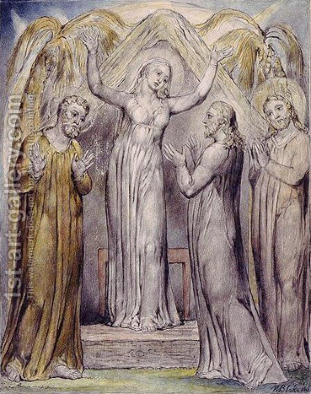 Illustration to Milton's Paradise Regained by William Blake - Reproduction Oil Painting