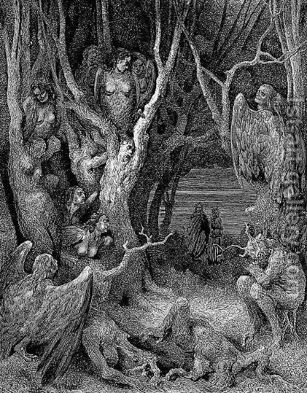 The Hapies' Wood by Gustave Dore - Reproduction Oil Painting