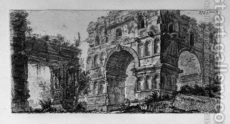 Arch of Titus in Rome by Giovanni Battista Piranesi - Reproduction Oil Painting