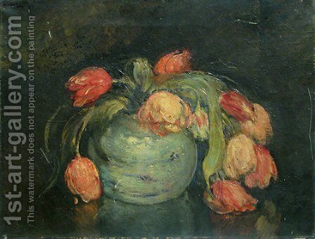 Tulipes by Michel Simonidy - Reproduction Oil Painting