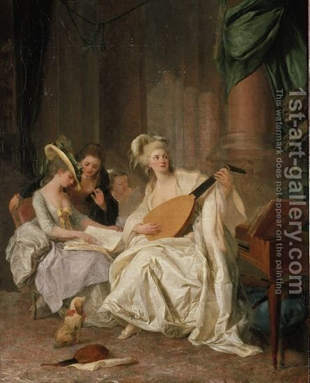 Huldigung an Gluck by Johann Anton de Peters - Reproduction Oil Painting