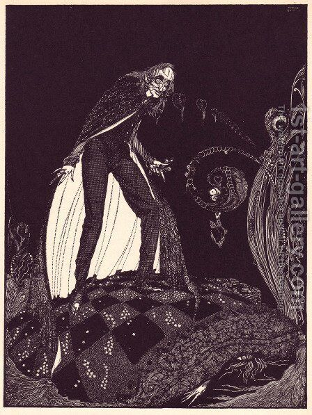 Tales of Mystery and Imagination by Edgar Allan Poe 22 by Harry Clarke - Reproduction Oil Painting