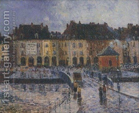 Fish Market at the Port of Dieppe 2 by Gustave Loiseau - Reproduction Oil Painting