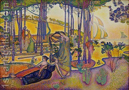 The Evening Air by Henri Edmond Cross - Reproduction Oil Painting