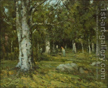 In the Forest by Ion Andreescu - Reproduction Oil Painting