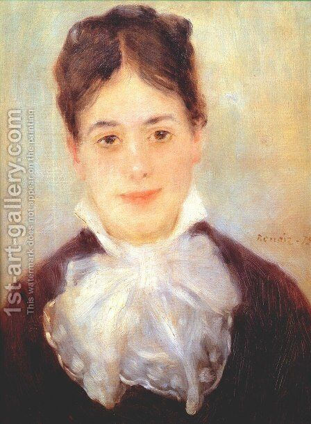 A Young Woman by Pierre Auguste Renoir - Reproduction Oil Painting
