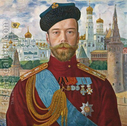 Tsar Nicholas II by Boris Kustodiev - Reproduction Oil Painting