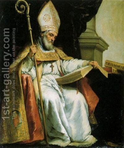 St. Isidore of Seville by Bartolome Esteban Murillo - Reproduction Oil Painting