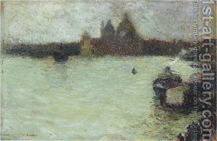The Salute in Venice by Henri Martin - Reproduction Oil Painting