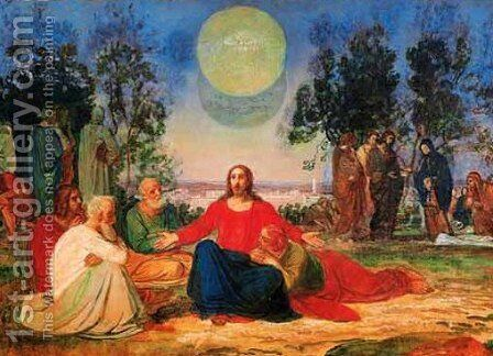 Preaching of Christ on the Mount of Olives about the second coming by Alexander Ivanov - Reproduction Oil Painting