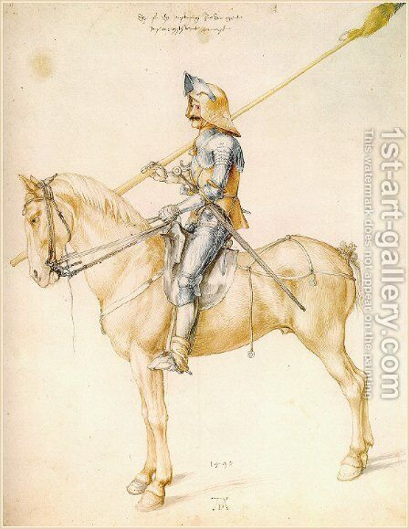 Knight On Horseback 2 by Albrecht Durer - Reproduction Oil Painting