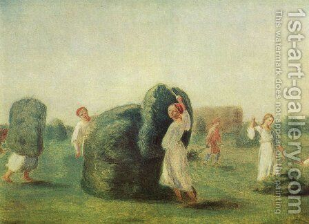 Haymaking 2 by Aleksei Gavrilovich Venetsianov - Reproduction Oil Painting