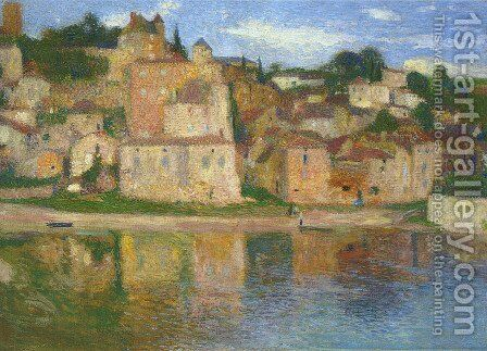 View of Puy l'Eveque 4 by Henri Martin - Reproduction Oil Painting