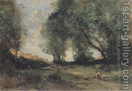 Landscape 3 by Jean-Baptiste-Camille Corot - Reproduction Oil Painting