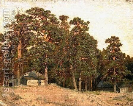 Sandy road by Ivan Shishkin - Reproduction Oil Painting