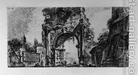 Forum of Augustus by Giovanni Battista Piranesi - Reproduction Oil Painting