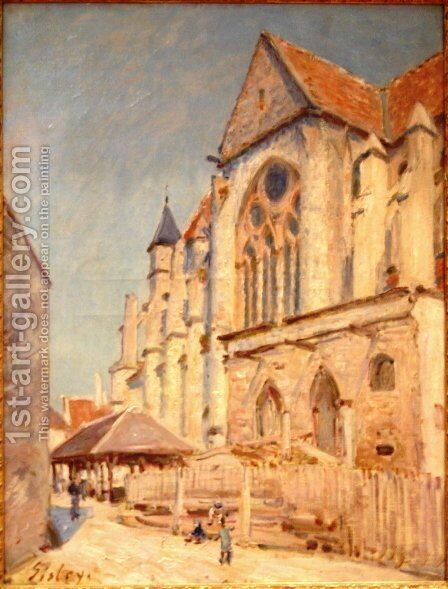 Eglise de Moret by Alfred Sisley - Reproduction Oil Painting