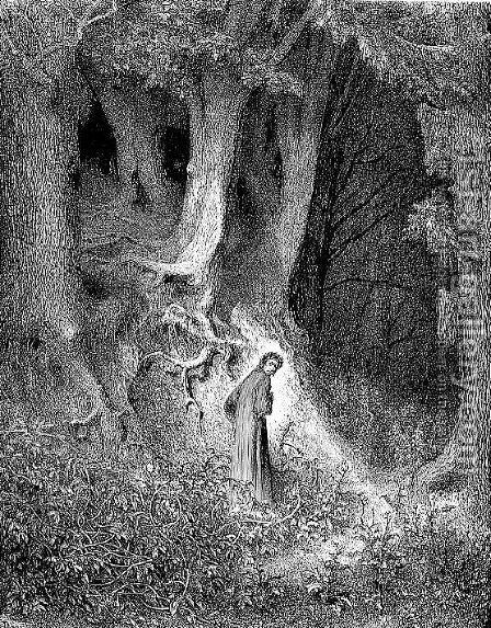 The Forest by Gustave Dore - Reproduction Oil Painting