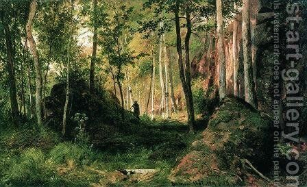 Landscape with a Hunter. Valaam Island by Ivan Shishkin - Reproduction Oil Painting
